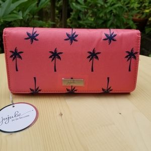 Ju-Ju-Be tri gold wallet pink and blue NWT